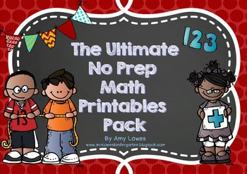 The Ultimate No Prep Math Printables Pack