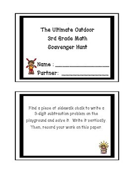 The Ultimate Outdoor 3rd Grade Math Scavenger Hunt Tpt