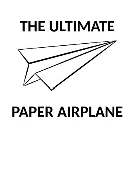 The Ultimate Paper Airplane Unit