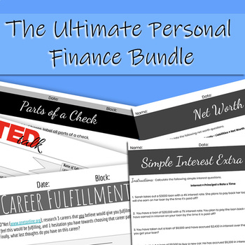 The Ultimate Personal Finance Bundle (Distance Learning Friendly)