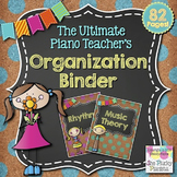 Music & Piano Binder Divider Pages & Covers: Chalkboard & Cork