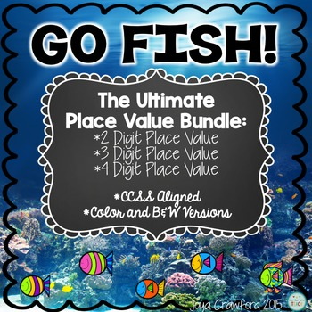 Place Value Games: Go Fish Place Value Games Bundle