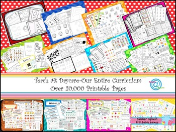 The Ultimate Printable Daycare Curriculum 12 Disc CD-R Set. Prints over 14,000