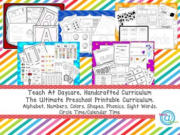 The Ultimate Printable Preschool Curriculum in a ZIP file. Over 2,000 pages!