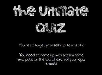 The Ultimate Quiz