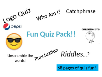 The Ultimate Quiz Pack - 100+ Page of Quizzes