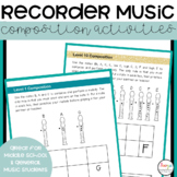 Recorder Music Composition Activities