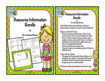 The Ultimate Resource Materials Bundle
