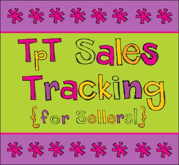 sales tracker for sellers by liv to teach teachers pay teachers