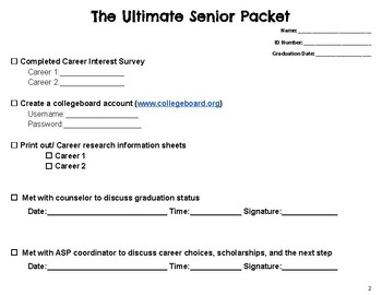 The Ultimate Senior College Packet