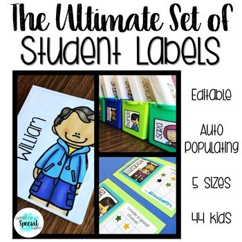 The Ultimate Set of Student Labels - Fits all Target adhesive labels!