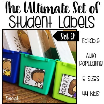 The Ultimate Set of Student Labels Set 2