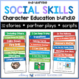 The Ultimate Social Skills Collection (Growing Bundle of 32 Social Story Packs)
