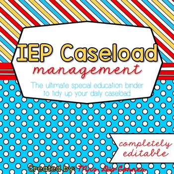 The Ultimate Special Education Binder - Red Blue Yellow {editable} IEP Binder