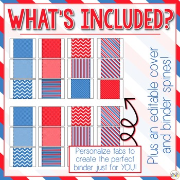 The Ultimate Special Education Binder - Red White Blue {editable} IEP Binder