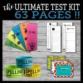 Ultimate Spelling Test Template Kit - includes awards, rem