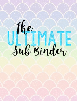 The Ultimate Substitute Binder! (EDITABLE!)