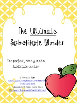 The  Ultimate Substitute Binder *EDITABLE*
