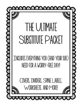 The Ultimate Substitute Packet