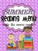 The Ultimate Summer Menu Pack: Menus for Reading, Writing,