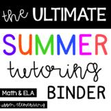 The Ultimate Summer Tutoring Binder