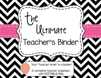 The Ultimate Teacher Binder  - Black & White Version