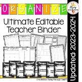 Ultimate Teacher Binder (Editable) Organizer Planner: Updated for: 2017-2018