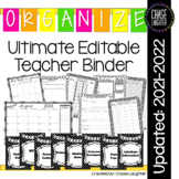 Ultimate Teacher Binder (Editable) Organizer Planner: Updated for: 2018-2019
