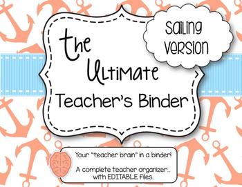 The Ultimate Teacher Binder - Sailing Version