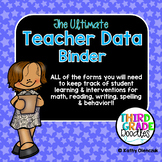 The Ultimate Teacher Record Book -- EDITABLE!!