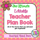 Teacher Plan Book -- EDITABLE
