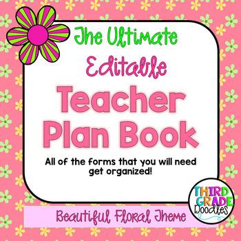 Teacher Plan Book -- EDITABLE