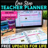Editable Teacher Binder | GOOGLE Drive | Digital Teacher Planner | FREE Updates
