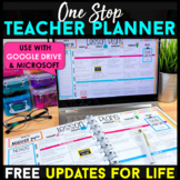 Editable Teacher Binder | Print & Digital Teacher Planner with FREE Updates