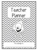 The Ultimate Teacher Planner - Monster Theme (b&w)