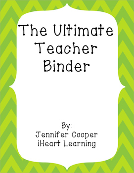The Ultimate Teacher's Notebook