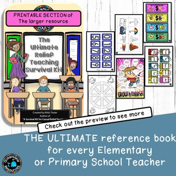 Relief Teacher and Substitute Binder - printable pack