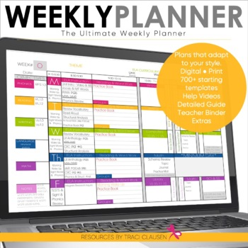 Teacher Binder - EDITABLE Digital & Printable Plan Book Templates ...