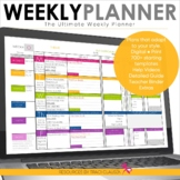 Teacher Planner Templates EDITABLE - Teacher Binder - Excel & Google Sheets