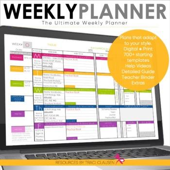 image about Week Planner Sheet called Trainer Planner Templates EDITABLE - Instructor Binder - Excel Google Sheets