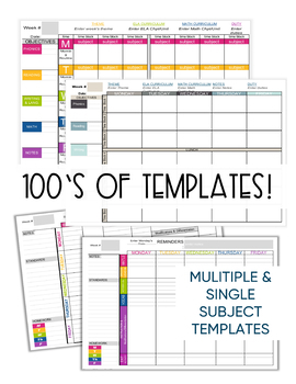 photo relating to Weekly Planner Sheet called Instructor Planner Templates EDITABLE - Trainer Binder - Excel Google Sheets
