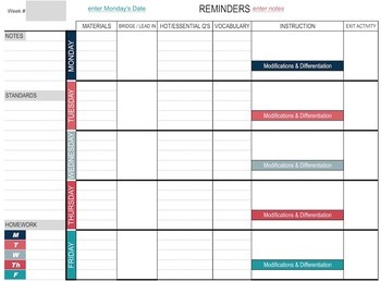 Teacher Binder -EDITABLE Digital & Printable Plan Book Templates & MORE - NMBRS