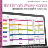 Teacher Planner Templates EDITABLE - Digital & Printable Teacher Binder-Numbers