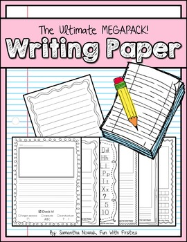 The Ultimate Writing Paper Megapack: dotted, lined, graph,