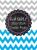 The Ultimate (and Editable) Grey & Blue Chevron Teacher Binder