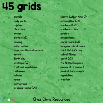 Word Search Activity - 45 themes