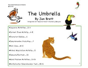 The Umbrella by Jan Brett Cross-Curricular Resource Packet