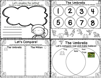 The Umbrella by Jan Brett Mini-Companion Freebie