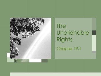 The Unalienable Rights