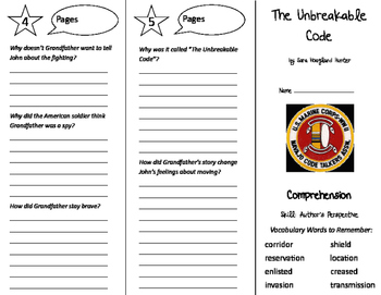 The Unbreakable Code Trifold - California Treasures 5th Grade Unit 3 Week 5